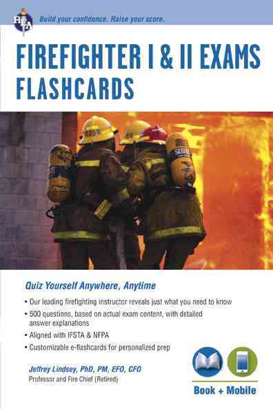 Firefighter I & II Exams Flashcard Book With E-flashcards By Lindsey, Jeffrey, Ph.D.